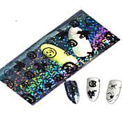 1pcs 100 * 4 centímetros transparente abóbora de Halloween fantasma linda aminal imagem Nail Art brilho adesivos decoração de unhas