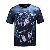 3D Tシャツ狼印刷コスプレ衣装Tシャツこっけいな服男性/女性のためのラウンドネック半袖