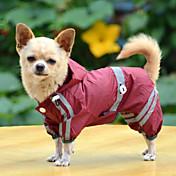 犬 レインコート 犬用ウェア 防水 純色 イエロー レッド グリーン