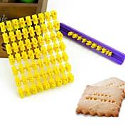 熱い販売のアルファベット番号クッキービスケット文字スタンプエンボスフォンダンケーキ飾る金型ブレーキカッターランダムな色