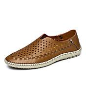 Muške cipele-Sandale-Ležerne prilike-Koža-Plava / Smeđa / Kaki