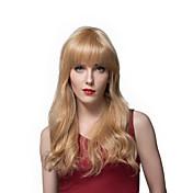 2016 nuevo diseño de peinado largo ondulado peluca de pelo humano para las mujeres