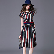 maxlindy女性のヴィンテージは/パーティー/洗練されたラインのドレスを外出します