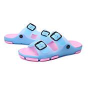 Para Meninas Sandálias Conforto Plástico Silicone Primavera Verão Outono Casual Caminhada Conforto Plástico RasteiroFúcsia Marron Azul