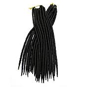 háčkované Dread Zámky Prodloužení vlasů 12-22 Kanekalon 12 Pramen 85-120 gram vlasy copánky