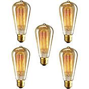 5pcs ST64 ampoule incandescente e27 40w e...