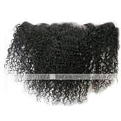 8-24 inch ナチュラルブラック (#1B) Kinky Curly 人毛 閉鎖 ミディアムブラウン スイスレース 30-50 グラム キャップサイズ