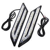 exled impermeable universal blanco / azul / rojo 66-LED de conducción diurna luces de niebla para coche (par)