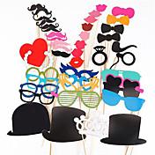 写真のブースには、44個/結婚式の誕生日パーティーの写真ブースの小道具のための設定プリクラスティックに口ひげリップメガネの小道具