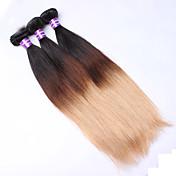 Ombre Cabello Euroasiático Recto 12 meses 3 Piezas los tejidos de pelo