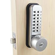 Cerradura mecánica de la puerta con la combinación código digital cerradura de la entrada de la contraseña para la seguridad casera con 2 llaves