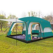 CAMEL > 8 personas Tienda Triple Carpa para camping Tiendas de Campaña Familiares Bien Ventilado Impermeable Resistente a los UV A