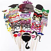 76個/竹の棒のブースでDIYの結婚式のお土産の写真の小道具を設定口ひげの装飾の小道具