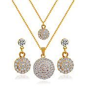 Joyas Collares / Pendientes Los sistemas nupciales de la joyería Boda 1 Set Mujer Dorado Regalos de boda