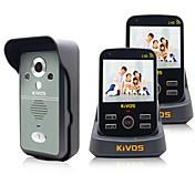 Trådløs Flerfamiliehuse video dørklokken 3.5 Håndholdt 30W En til to video Dørtelefonen