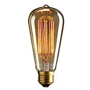 レトロなヴィンテージE27芸術フィラメント電球工業用白熱40ワット