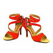 Zapatos de baile(Negro / Azul / Amarillo / Rosa / Morado / Rojo / Blanco) -Latino / Salsa-Personalizables-Tacón Personalizado