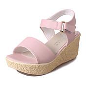 Dámské Sandály PU Léto Ležérní Přezky Klín Béžová Modrá Růžová 5 - 7 cm