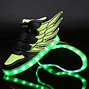 Unisex-Tacón Plano-Innovador Light Up Zapatos-Zapatillas de deporte-Exterior Informal-Sintético PU-Negro Blanco Fucsia