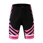 WOSAWE Pantalones Acolchados de Ciclismo Mujer Bicicleta Shorts/Malla corta Impermeable Transpirable Reductor del Sudor Espándex Poliéster