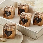 12 Piezas / Juego Holder favor-De Forma Cúbica Papel de tarjetaCajas de regalos Bolsos de regalos Cubetas de recuerdo Bolsas de Galletas