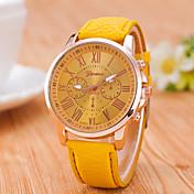 Pánské Dámské Unisex Náramkové hodinky Křemenný / PU Kapela Běžné nošeníČerná Bílá Modrá Červená Orange Hnědá Zelená Růžová Fialová Khaki