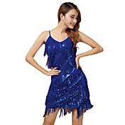パフォーマンス ワンピース 女性用 演出 ポリエステル 1個 ノースリーブ ドレス