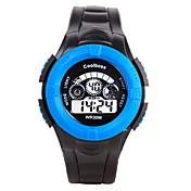 Herre Børn Sportsur Modeur Digital Watch Digital / Silikone Bånd Afslappet Sort