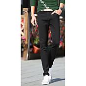 Masculino Jeans Calças Sólido