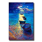 手描きの 抽象画 / 風景 / 静物画 油彩画,Modern / 欧風 1枚 キャンバス ハング塗装油絵 For ホームデコレーション