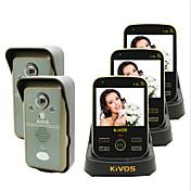 kivos kdb302a timbre de la puerta de vídeo timbre inalámbrico de dos arrastre tres monitoreo remoto cerradura de la cámara