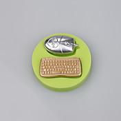 マウスとキーボードの形状キャンディフォンダンケーキ金型キッチンベーキング金型色ランダム