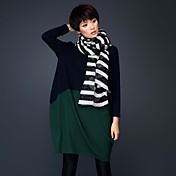 Mujer Corte Ancho Vestido Tallas Grandes / Formal / Trabajo Simple / Chic de Calle / Sofisticado,Un Color / Estampado / BloquesEscote