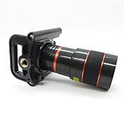Univerzální 8X Teleobjektiv s Universal kovovým klipem pro mobil - červená + černá