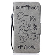 のために iPhone 7ケース / iPhone 6ケース / iPhone 5ケース ウォレット / カードホルダー / スタンド付き / エンボス加工 / パターン ケース フルボディー ケース カトゥーン ハード PUレザー AppleiPhone 7プラス /