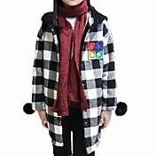 女の子の カジュアル/普段着 チェック コットン,ブラウス 冬 レッド / ホワイト