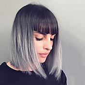 Elegantní módní přímé lidské vlasy paruky pro ženy
