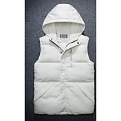 コート レギュラー パッド入り メンズ,カジュアル/普段着 ソリッド ポリエステル 中綿なし-シンプル 長袖