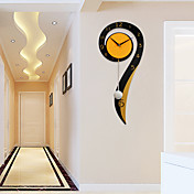 Moderno/Contemporáneo Casas Reloj de pared,Otros Madera Metal Interior Reloj