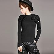 ヨーロッパとアメリカの新しい冬のセーターの女性のセーターの潮薄いスタイリッシュな手ビーズのシャツの本当のショット