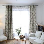 Dos Paneles Ventana Tratamiento Campestre , Flor Dormitorio Poliéster Material Blackout cortinas cortinas Decoración hogareña For Ventana