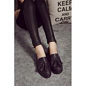 MujerConfort-Zapatos de taco bajo y Slip-Ons-Casual-PU-Negro / Marrón
