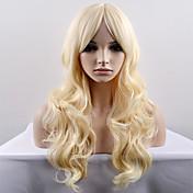 Mujer Pelucas sintéticas Sin Tapa Largo Muy largo Ondulado Natural Bleach Blonde Peluca natural Peluca de Halloween Peluca de carnaval