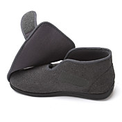 Hombre-Tacón Plano-Confort-Zapatos de taco bajo y Slip-Ons-Exterior Oficina y Trabajo Informal-Lana-Negro Gris