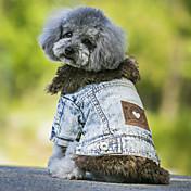 犬用品 コート デニムジャケット 犬用ウェア カウボーイ ファッション 保温 ジーンズ ブラック ブルー
