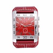 Hombre Reloj de Moda Reloj de Pulsera Cuarzo / Piel Banda Cosecha Cool Casual Negro Blanco Rojo Marrón Blanco Negro Marrón Rojo