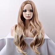 女性 ロング丈 非常に長いです ベージュ ルーズウェーブ 合成 キャップレス ナチュラルウィッグ ハロウィンウィッグ カーニバルウィッグ