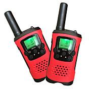 niños walkie talkies 22 canales y pantalla LCD retroiluminado (hasta 6 km en áreas abiertas) walkie talkies para niños (1 par) T48
