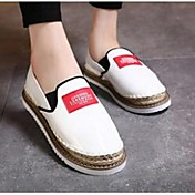 MujerConfort-Zapatos de taco bajo y Slip-Ons-Casual-Microfibra-Negro / Blanco