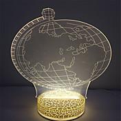 navidad mejor mini regalo efecto 3D de color blanco cálido lámpara de noche